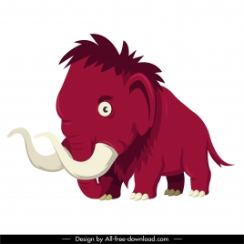 mammoth icon cute cartoon sketch