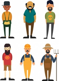 man icons casual style different careers