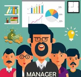 manager work banner staffs office design elements decor