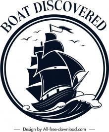marine logotype ship sea icon classical sketch