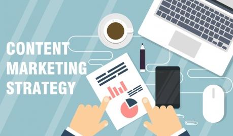 marketing work background laptop hands smartphone manuscript icons