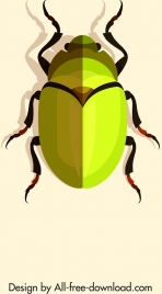 may bug insect icon bright yellow 3d design