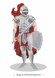medieval ancient knight icon metallic armor decor