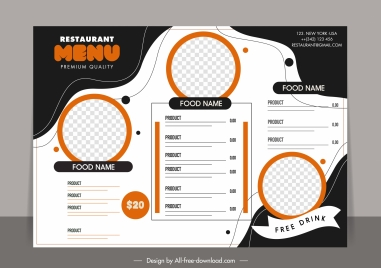 menu background template abstract contrast checkered decor