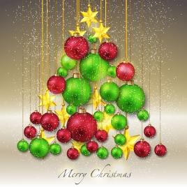 merry christmas ball tree decor