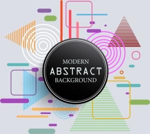 modern abstract background flat geometric design