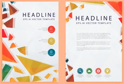 modern brochure template colorful geometric decoration