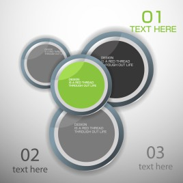 modern Design Labels Circle banners