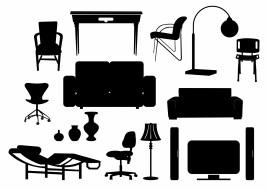 Modern Furniture Silhouettes