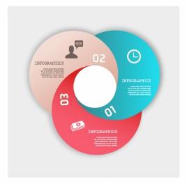 Modern Infographics business diagram circle template