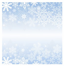 Modern Snowflakes Frame