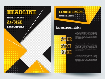Free A Brochure Free Template Vectors Stock For Free Download - Template brochure free