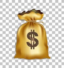 money bag icon shiny golden design classical type