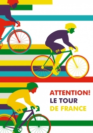 motion background cyclists icons multicolored design
