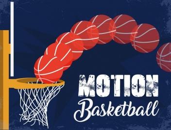 motion basketball background retro grunge decor