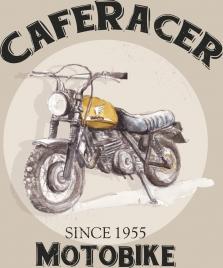 motorbike advertising 3d retro design