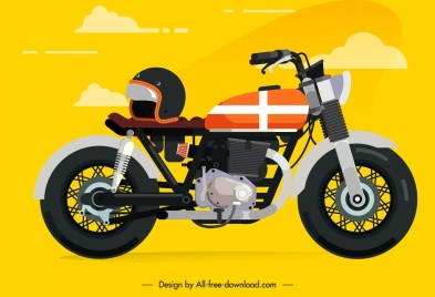 motorbike icon template modern stylish design