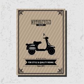 motorcycle advertisement vintage bike icon decoration