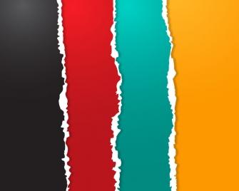 multicolor broken paper