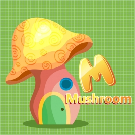 mushroom house icon multicolored decoration 3d design