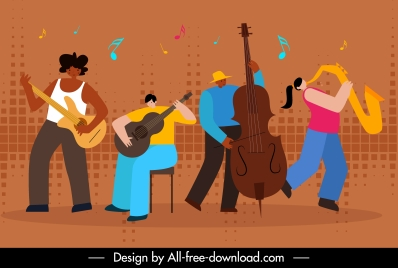 music background orchestra performance sketch cartoon design