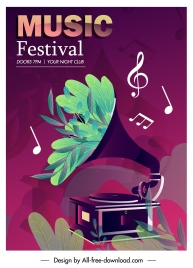 music festival poster retro speaker sketch