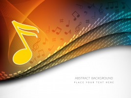 music note abstract background