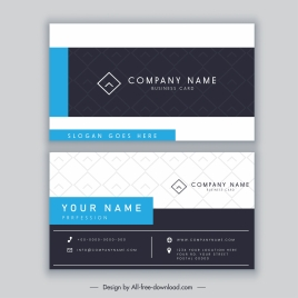 name card template modern elegant horizontal decor