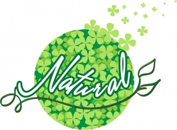 natural background flying green flowers with text decoration