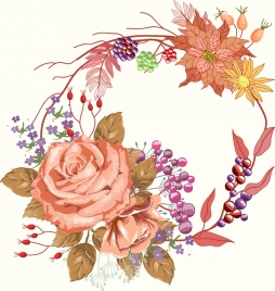 natural flower painting multicolored classical decor
