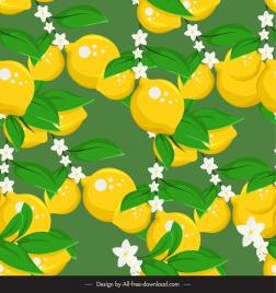natural lemon pattern bright classic design