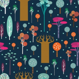 natural woods background colorful flat decoration