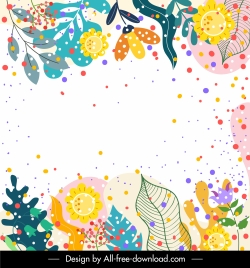 nature background colorful classic handdrawn leaves floras decor