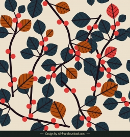 nature background colorful classical leaves flat design
