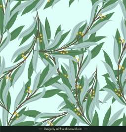 nature background floral leaves decor colored classic design