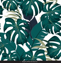 nature background template luxuriant green leaves sketch