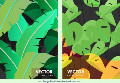 nature background templates leaves decor colors blend