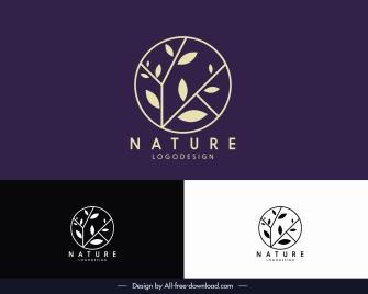 nature logotype flat tree branch sketch circle layout