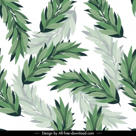 nature pattern bright green leaves classic blurred decor
