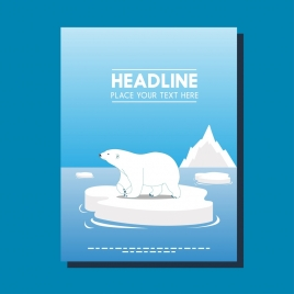 nature poster design white bear polar decoration