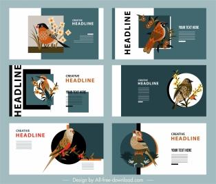 nature poster templates floras birds decor classic design