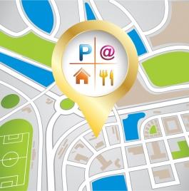navigation map background shiny oval city layout