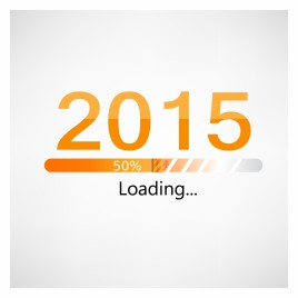 New year 2015 loading background