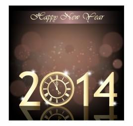 New Year clock 2014