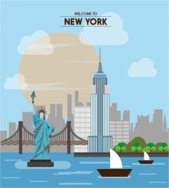 new york promotion banner famous destination design