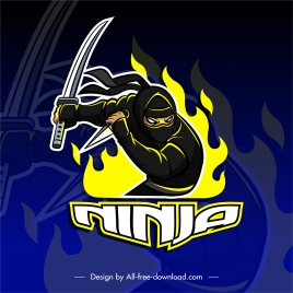 ninja background dynamic gesture flaming decor