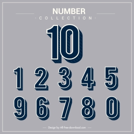 numbering background template flat classic design