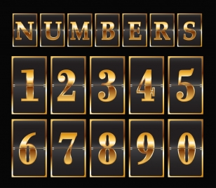 numbers background modern black yellow decor