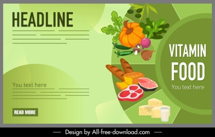 nutrition food poster bright colorful design