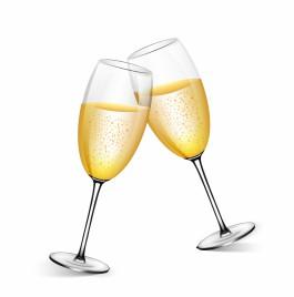 Object champagne glasses vector art